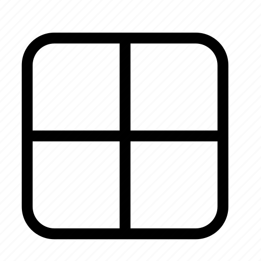grid, large, snap icon