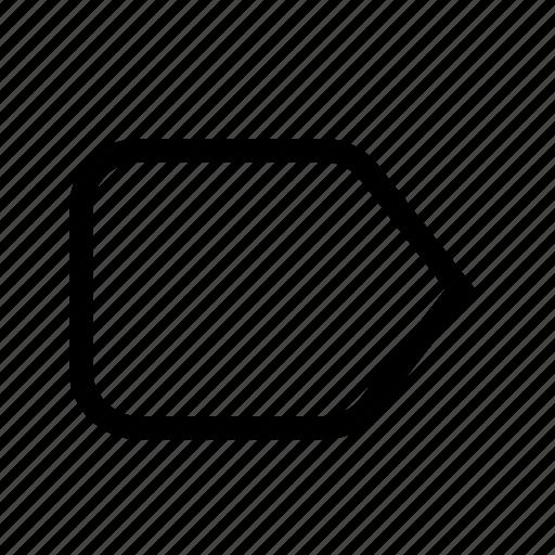 badge, label, tag icon