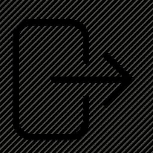 exit, leave, logout icon