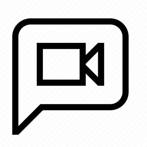 bubble, message, movie, video icon