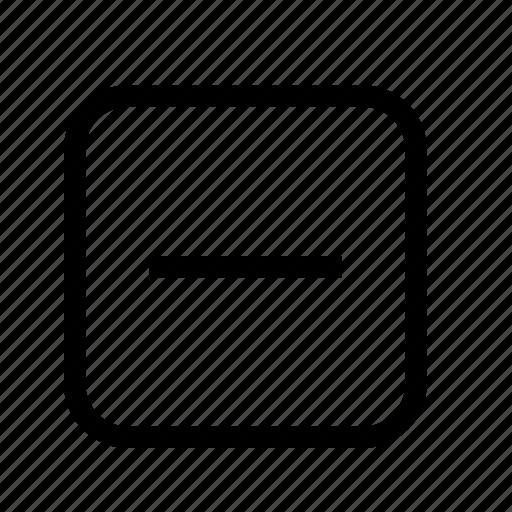 box minus, box subtract icon