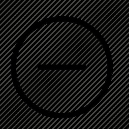 circle, minus, subtract icon