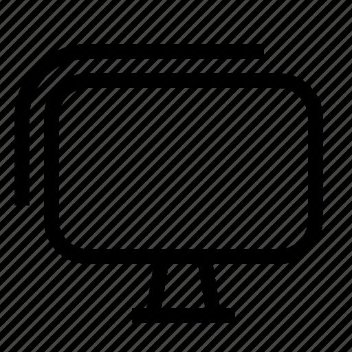displays, dual monitor, lcd, monitors, screens, televisions, tvs icon