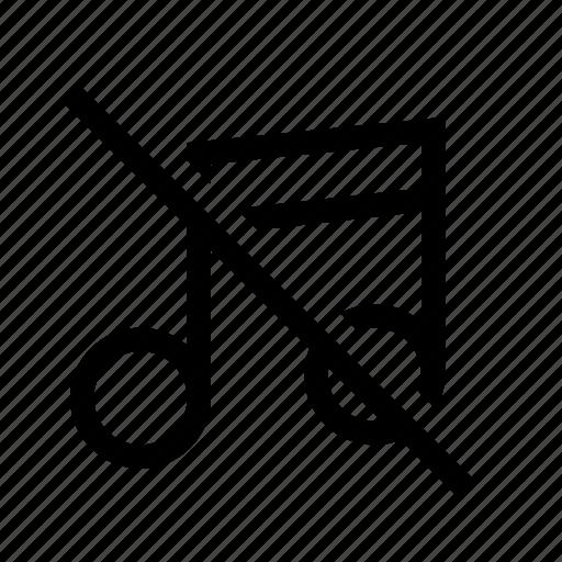 audio, music, mute, off icon