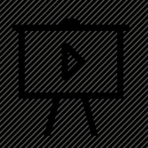 play, presentation, slideshow icon