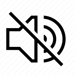 mute, off, sound, volume icon