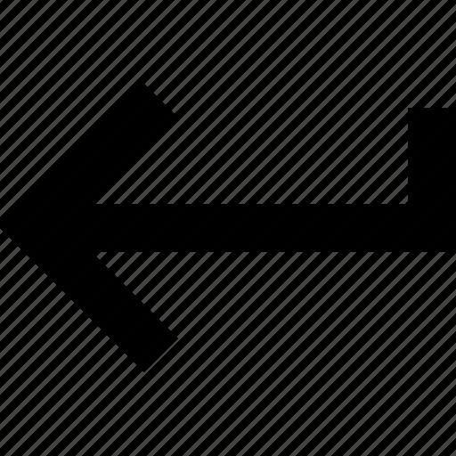 arrow, enter icon