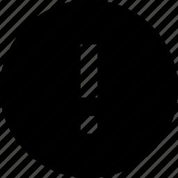 error, warning icon