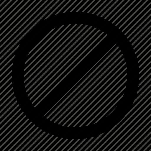 block, hide, remove, stop icon
