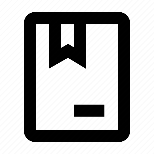 book, mark, open, ribbon icon