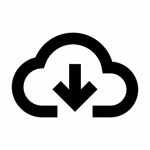 cloud, database, download, internet, server icon
