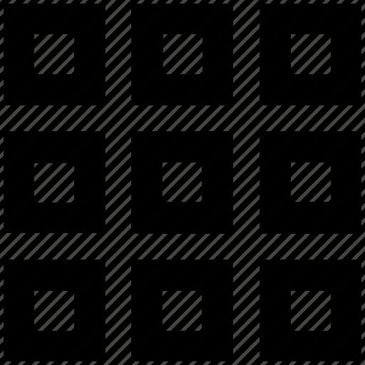 application, grid, layout, menu, nine, square, wingding icon