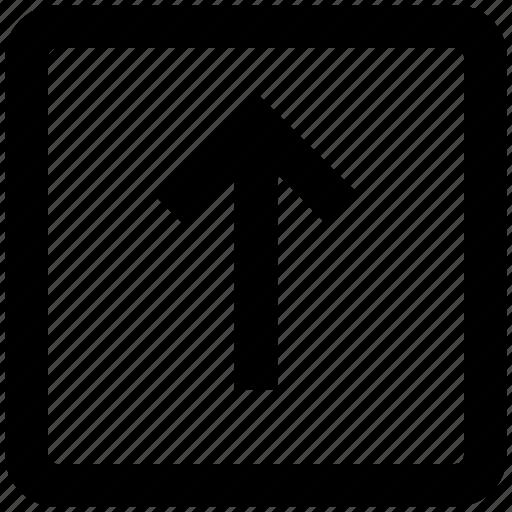 arrow, box, forward, material, square, up, up arrow icon