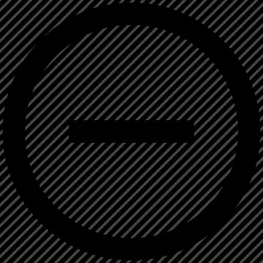 Circle, delete, minus, minus circle, remove icon - Download on Iconfinder