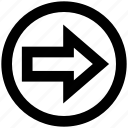 arrow, circle, forward, material, right, right arrow icon