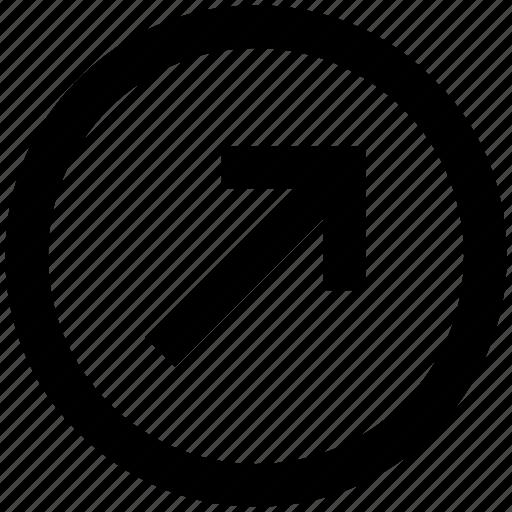 arrow, circle, forward, material, up, up arrow icon