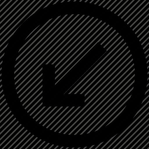 arrow, circle, down, down arrow, forward, material icon