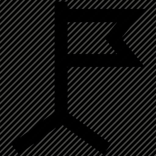 banner, destination, flag, location, sign, signal icon