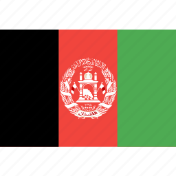 afghanistan, country, flag, nation, world icon