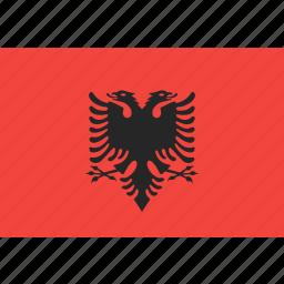 albania, country, flag, nation, world icon