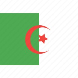 algeria, country, flag, nation, world icon