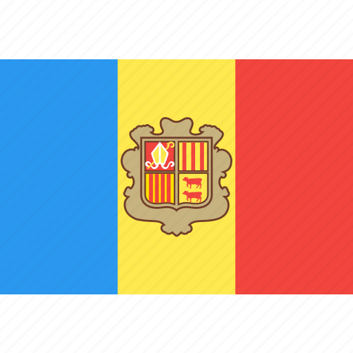 andorra, country, flag, nation, world icon