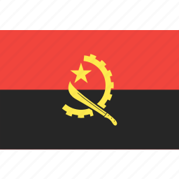 angola, country, flag, nation, world icon