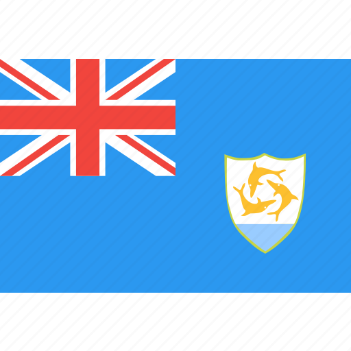 anguilla, country, flag, nation, world icon