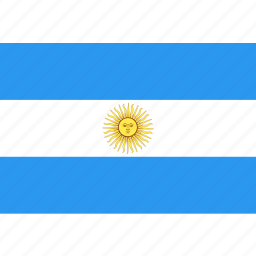 argentina, country, flag, nation, world icon