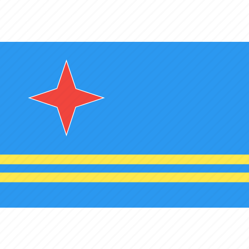 aruba, country, flag, nation, world icon