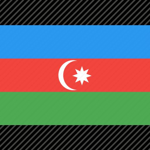 azerbaijan, country, flag, nation, world icon