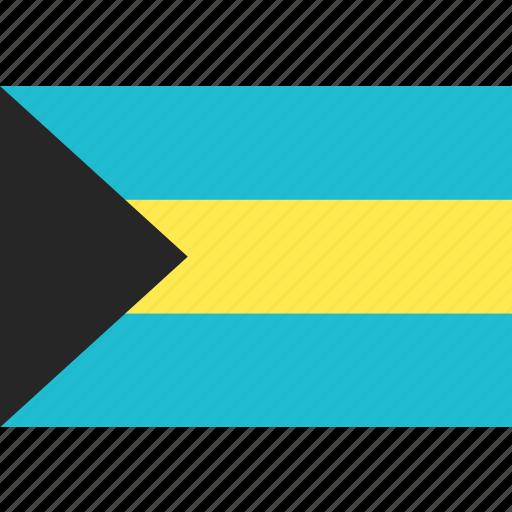 bahamas, country, flag, nation, world icon