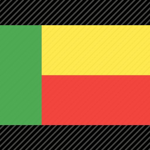 benin, country, flag, nation, world icon