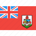 bermuda, country, flag, nation, world icon