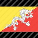 bhutan, country, flag, nation, world icon