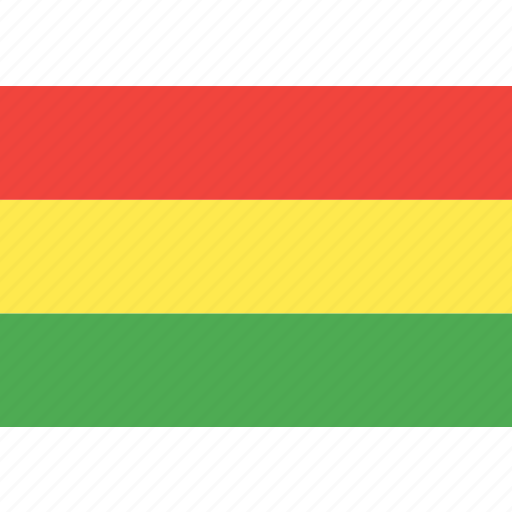bolivia, country, flag, nation, world icon
