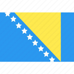 and, bosnia, country, flag, herzegovina, nation, world icon