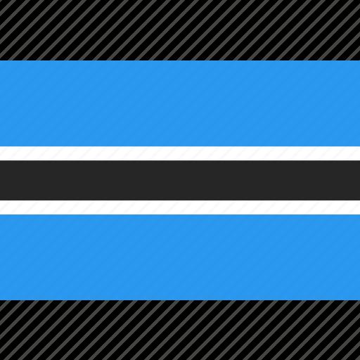 botswana, country, flag, nation, world icon