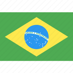 brazil, country, flag, nation, world icon