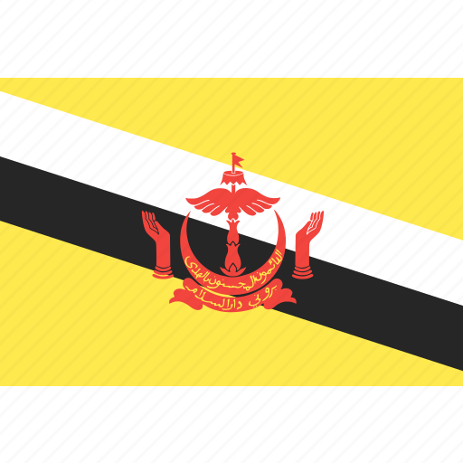 brunei, country, flag, nation, world icon