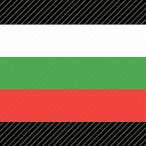 bulgaria, country, flag, nation, world icon
