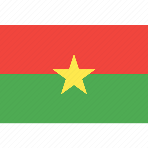 burkina, country, faso, flag, nation, world icon