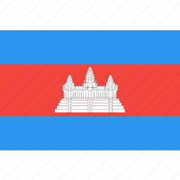 cambodia, country, flag, nation, world icon