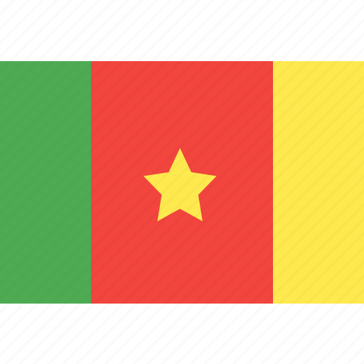 cameroon, country, flag, nation, world icon