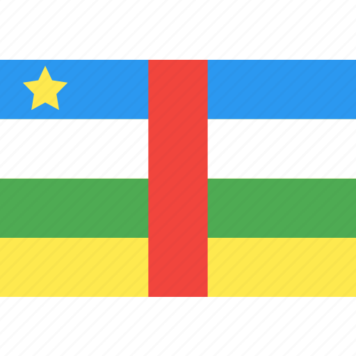 african, central, country, flag, nation, world icon