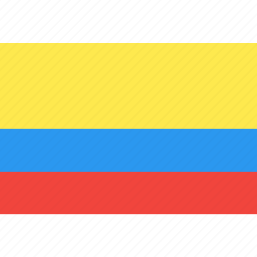 colombia, country, flag, nation, world icon