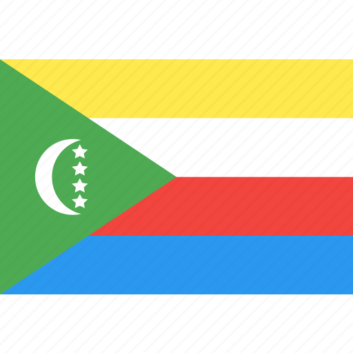 comoros, country, flag, nation, world icon