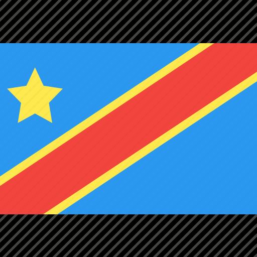 congo, country, democratic, flag, nation, republic, world icon