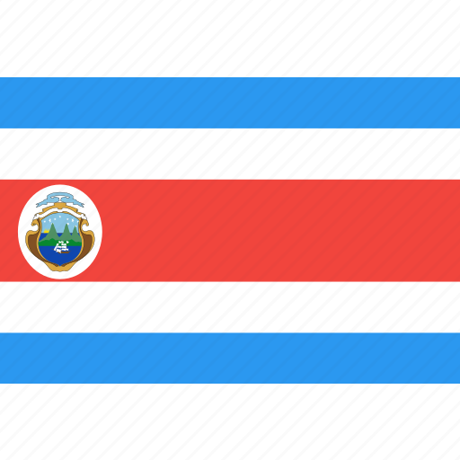costa, country, flag, nation, rica, world icon