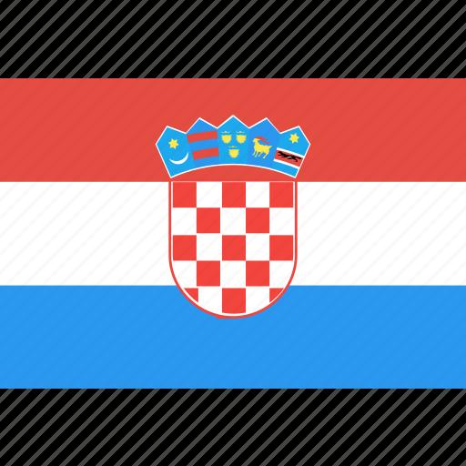 country, croatia, flag, nation, world icon